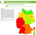 Zahnarztkosten deutsche Bundesländer Vergleich